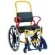 Chaise douche/wc enfant Augsburg grandes roues