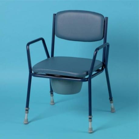 Chaise percée empilable assise rembourrée