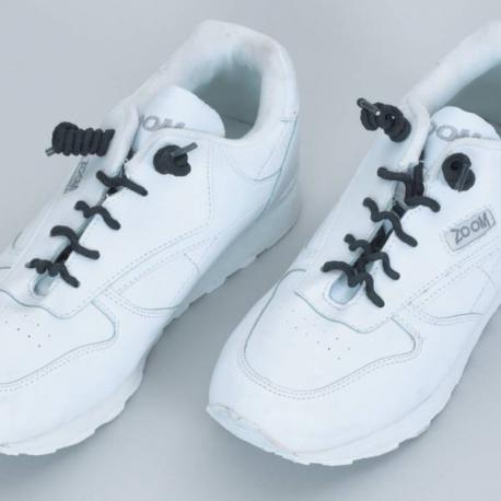 Lacets de chaussures enroulés Noir (la paire)