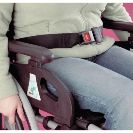 Ceinture de sécurité pour fauteuil roulant à enrouler