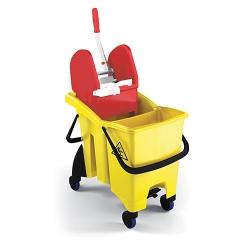 Chariot de lavage bi-bacs