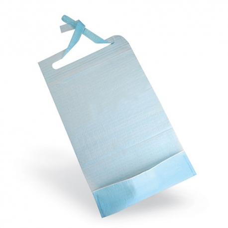 Bavoir avec poche de recueil