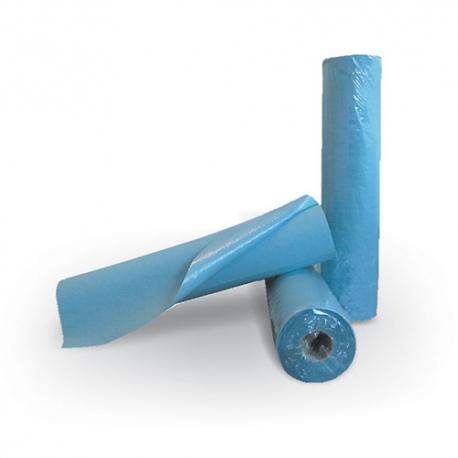 Drap d'examen ouate bleue plastifiée
