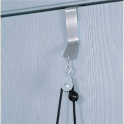Poulie aérienne - fixation avec crochet en métal