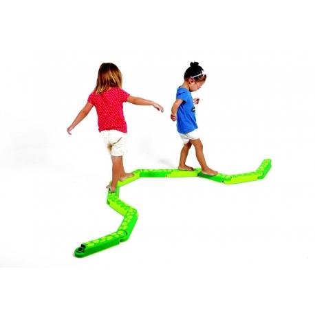 Parcours de marche serpentin