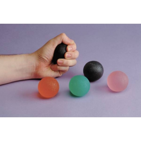 Balle en gel pour exercices de la main rose