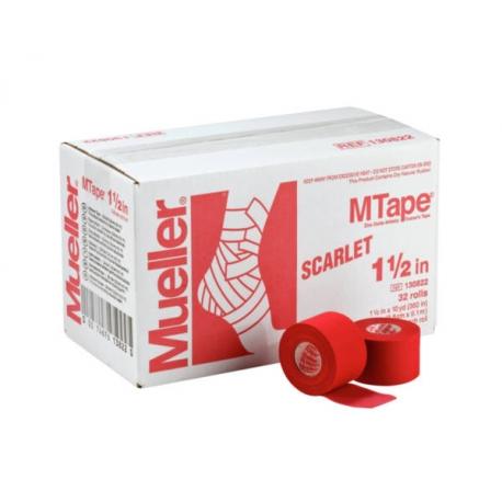 Bande MTape® Team rouge 3,8cmx9,1m
