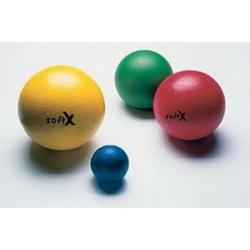 Balles Soft X® Balle 9 cm de diamètre (bleu, jaune, rouge, rose)