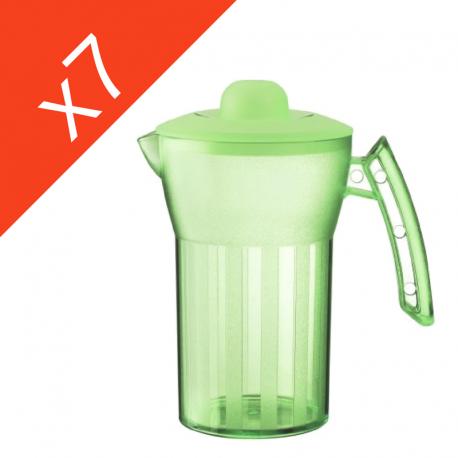 Carafes 0,5 l avec couvercle verte X7