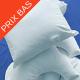 Oreiller microbis enduit 60x60 600g env impermeable polyurethane