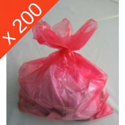 SAC A LINGE SOLUBLE A L'EAU CHAUDE 660*840 ROUGE X200