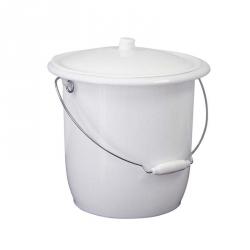 Seau toilette + couvercle - blanc