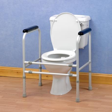 Cadre de toilettes ajustable aluminium