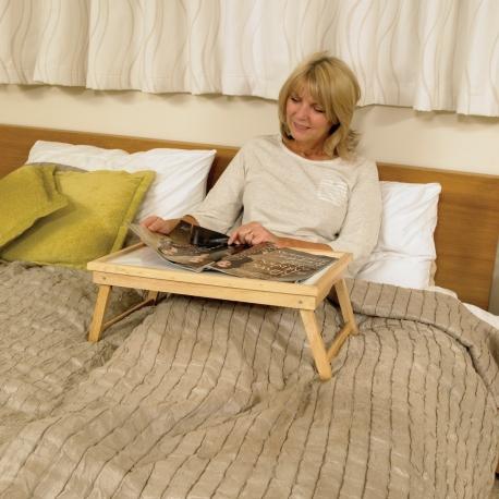 Plateau de lit ajustable en bois