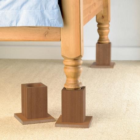 Cubes en bois pour lits