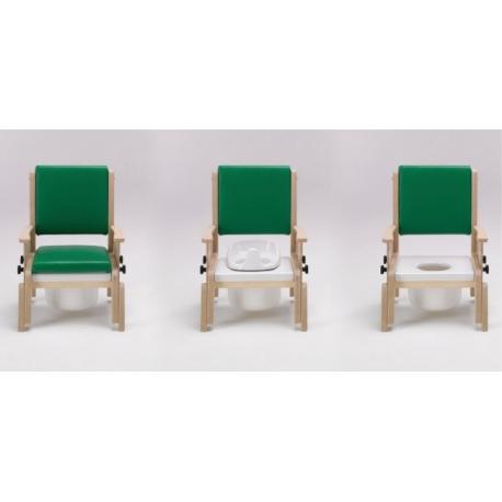 Chaise de toilettes Combi accoudoirs ajustables M Bleu