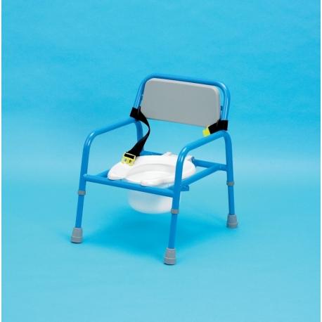 Chaise percée pédiatrique réglable