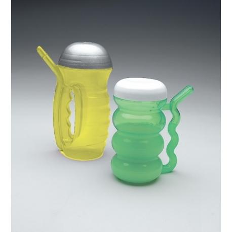 Tasse avec paille intégrée petite Vert