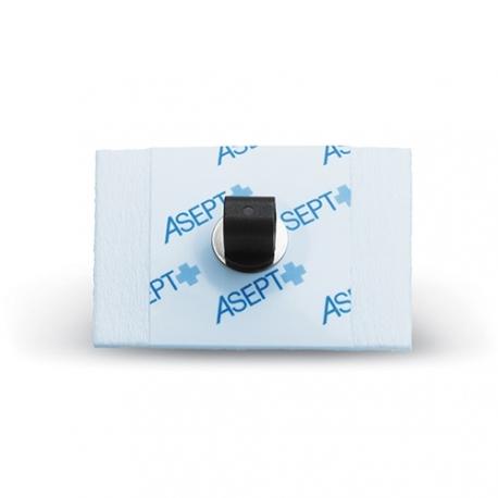 Electrode rectangulaire à pointet prégélifiée radio transparente 44x28 mm