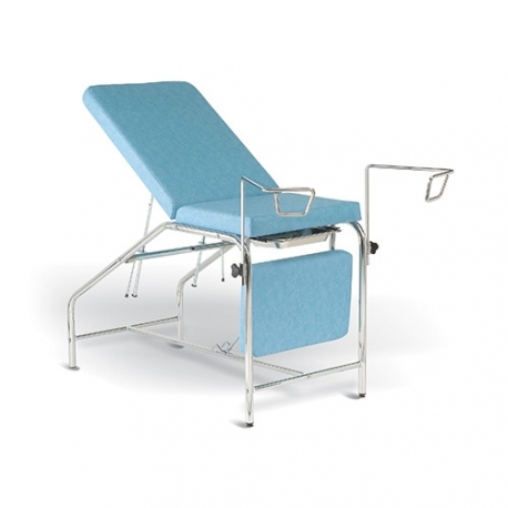 Divan gynécologique Chromé avec assise fixe