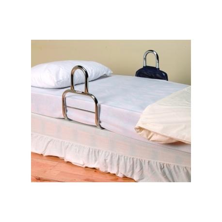 Barre d'accès au lit chromée